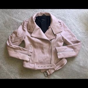 Mackage pink blush leather jacket